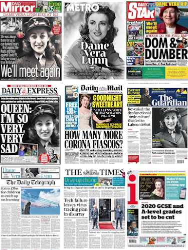 Today's front pages