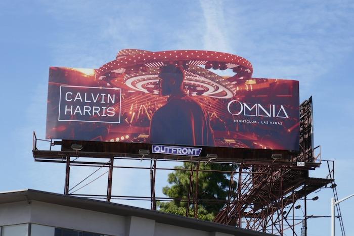 Calvin Harris Omnia 2020 Las Vegas billboard