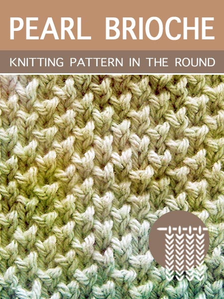 Hand Knitting Stitches - Pearl in the round