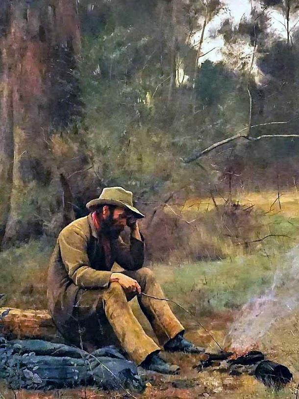 Entregue à sua sorte, Frederick Mccubbin (Art Gallery of Western Australia (Australia), detalhe