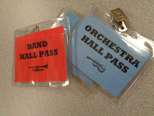 band orchestra hall pass