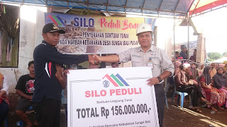 Silo Peduli Bencana Sungai Bali Beri Bantuan Tunai Rp 156 Juta