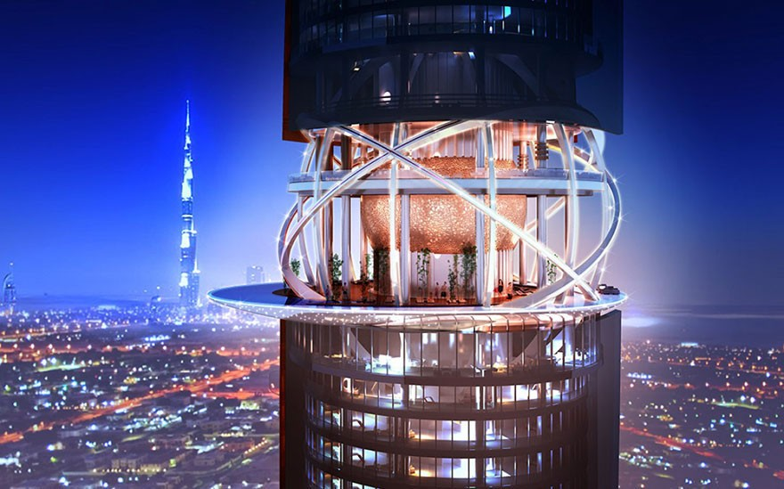 Dubai Has Plans To Open The World's First Hotel With A Rainforest Inside Of It - There will be a sky lobby on the 26th floor