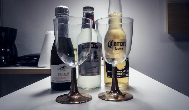 Taças e champagne