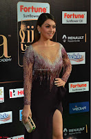 Hansika Motwani in Glittering Deep Neck Transparent Leg Split Purple Gown at IIFA Utsavam Awards 11.JPG