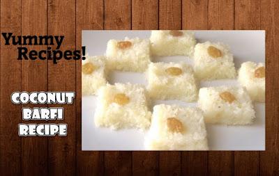 Coconut Barfi Recipe - How To Make Coconut Barfi