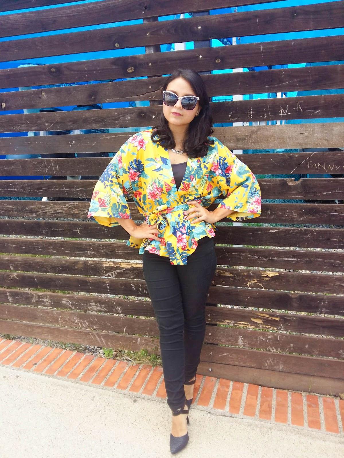 Kimono Zaful yellow