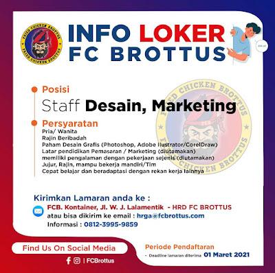 Loker Kupang di Brottus FC Sebagai Staff Desain, Marketing