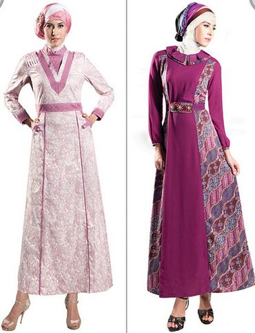30 Contoh Baju Muslim Batik Modern 2018 Model Baju