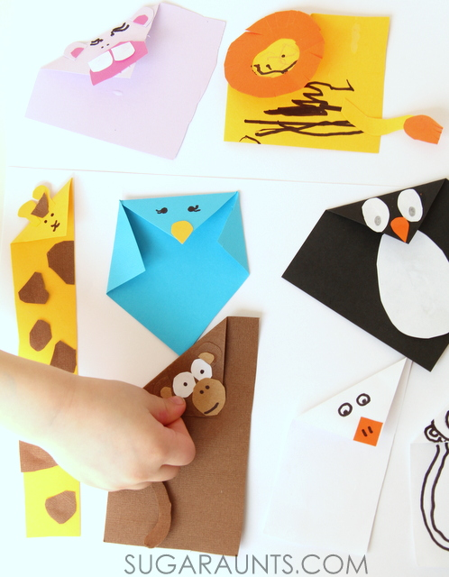 Beautiful Oops folded paper animal crafts