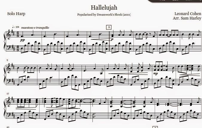 Leonard Cohen Hallelujah Piano Sheet Music Piano Sheet Music