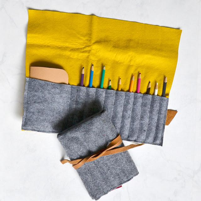 felt crayon rollup tutorial