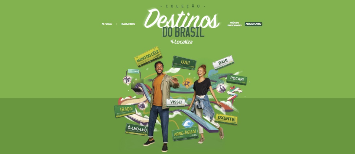 Promoção Localiza 2021 Destinos do Brasil Ganhe Placa Exclusiva