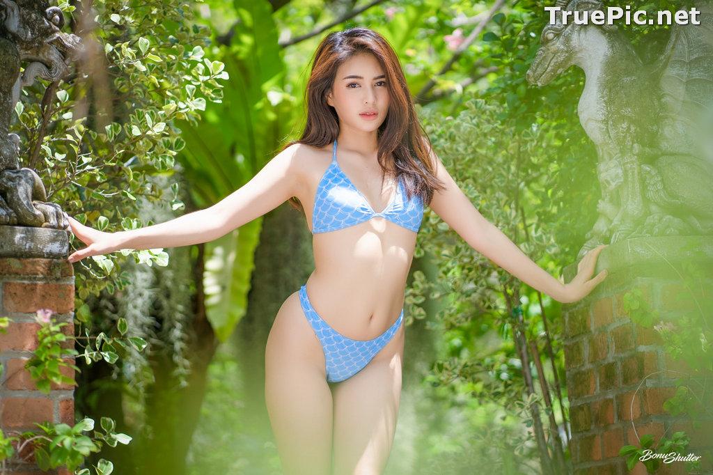 Image Thailand Model - Poompui Tarawongsatit - Summer Blue Bikini Set - TruePic.net - Picture-9
