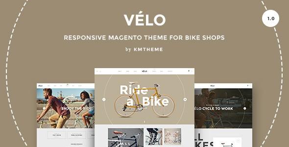 Responsive website theme for bike shops
