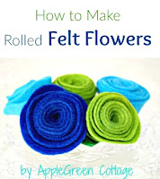 rolled felt flowers tutorial