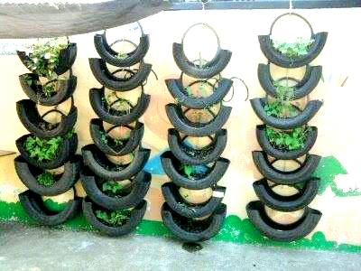 Garden Ideas Using Tyres For Used Tires Old Care On Pinterest Tyre