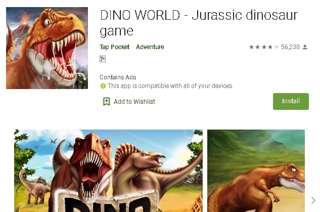 dinosaurs jurassic world game