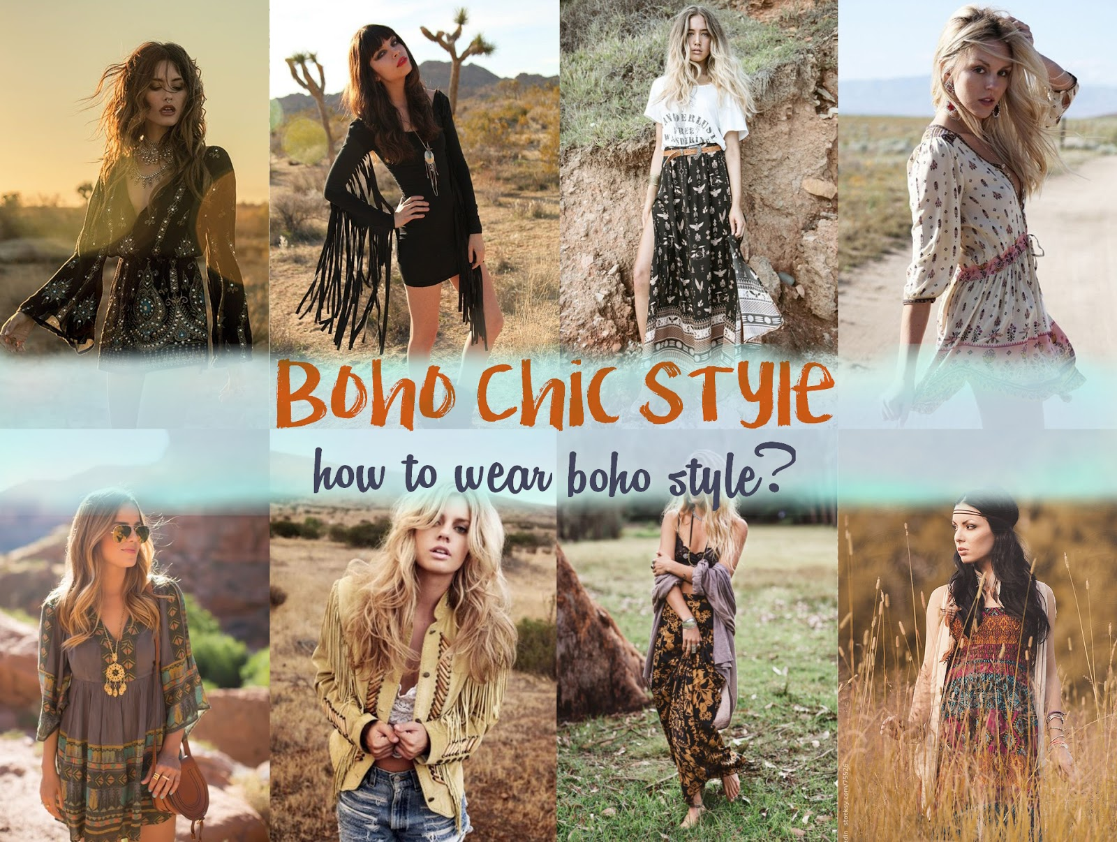 Boho chic style how to style wear boho outfit glam Bohemian style fashion blogs