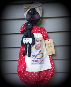 Retro Mammy Doll with Baby Bag holder