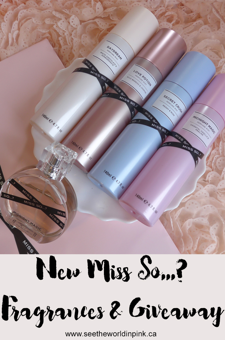 New Miss So...? Fragrances and a Giveaway!