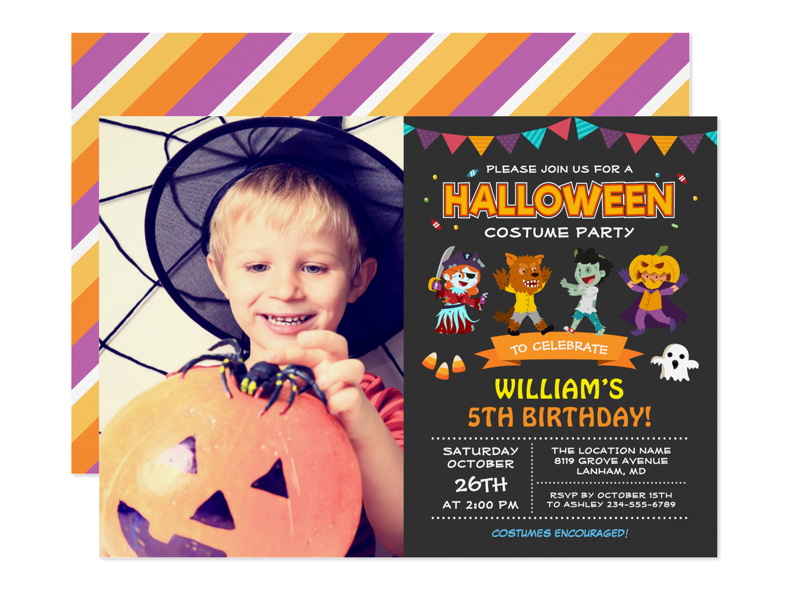26 kids halloween birthday party invitations mimoprints 26 kids halloween birthday party invitations filmwisefo