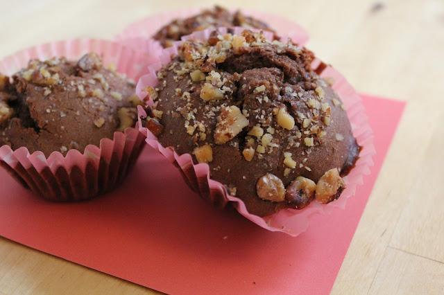 Chocolate and condensed milk muffins 1