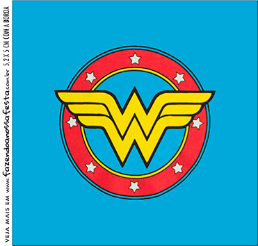 photo about Wonder Woman Printable Logo known as Surprise Female Free of charge Printable Invites and Sweet Bar Labels