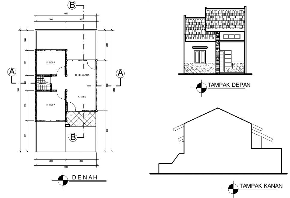 Image Result For Denah Rumah Type Luas Tanah