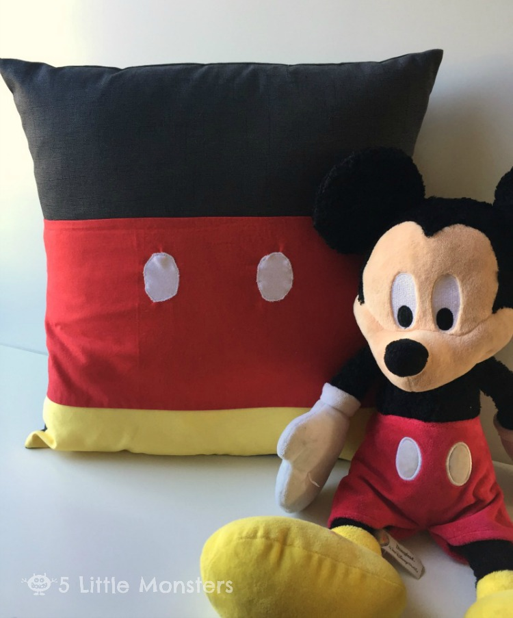 5 Little Monsters Mickey Minnie Inspired Pillows