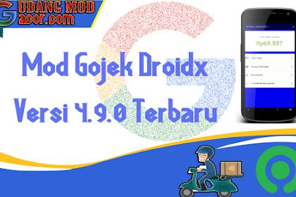 Mod Gojek Terbaru Gratis DroidX Versi 4.9.0 Terbaru No Root Root