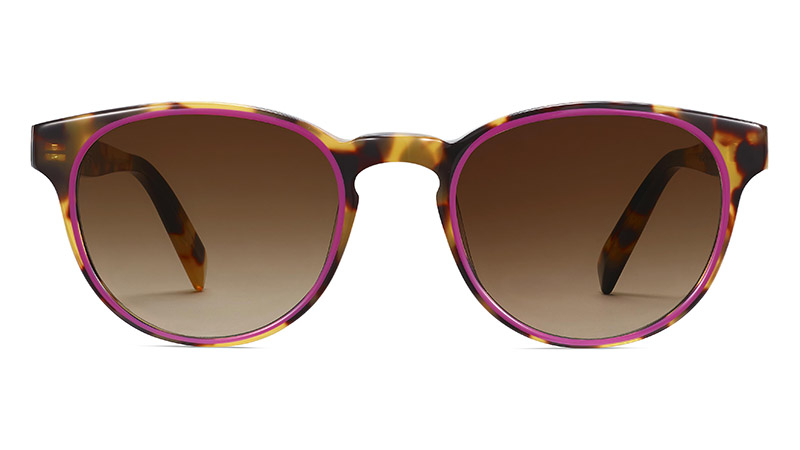 Warby Parker Percey Sunglasses in Cider Tortoise with Fuchsia