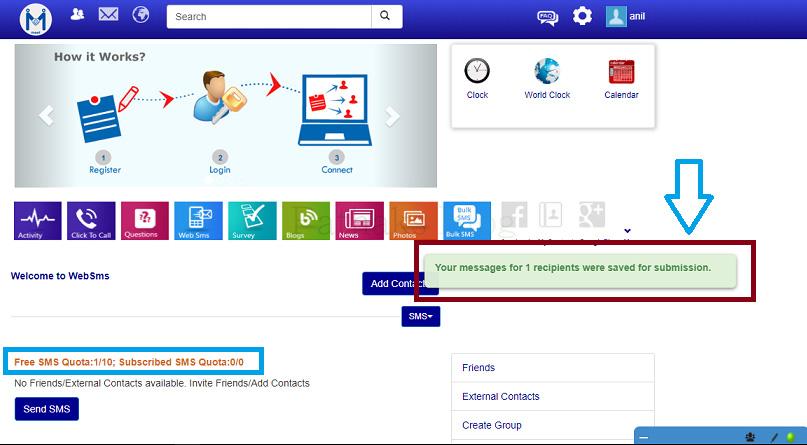 9 SMS remaining among 10 SMS Quota, pathaks blog, anil pathak