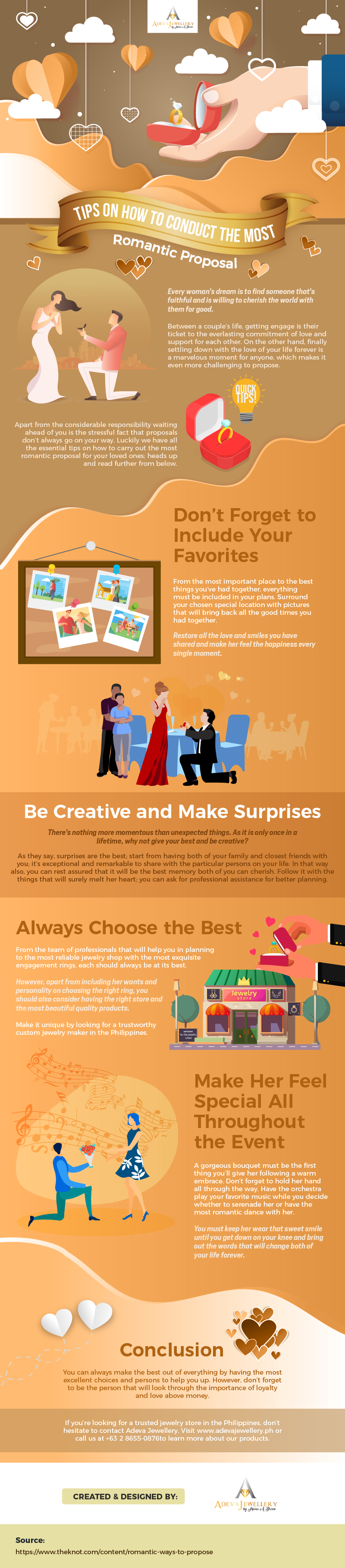 Tips on How to Conduct the Most Romantic Proposal #infographic