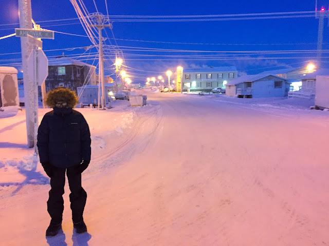 Momeganna St from Ahkovak St, Barrow, Alaska (C) 2020 Supratim Sanyal