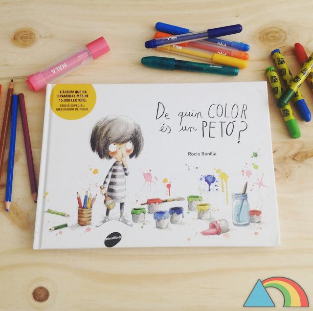 Portada del álbum ilustrado ¿De qué color es un beso?
