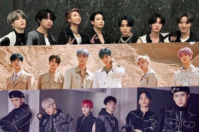 Daftar 30 Boy Group K-Pop Terpopuler Bulan Mei 2020