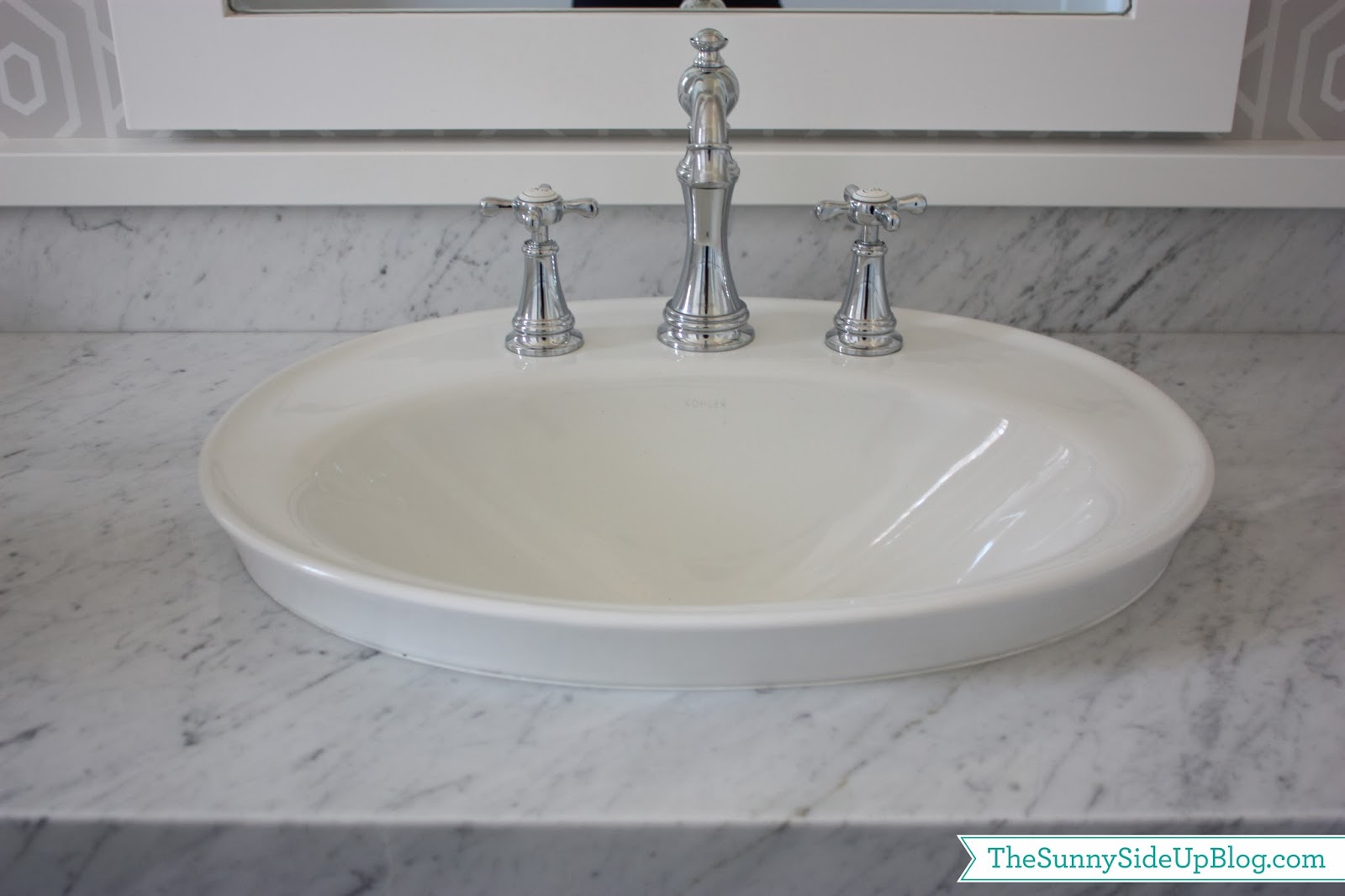 Powder Bathroom - The Sunny Side Up Blog