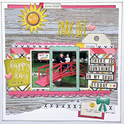 Park Life scrapbook page tracee provis papermaze simple stories sunshine & happiness