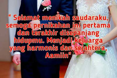 ucapan pernikahan simple untuk saudara/adik
