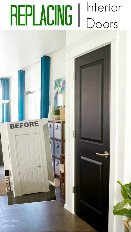 new black interior doors raise panel DIY