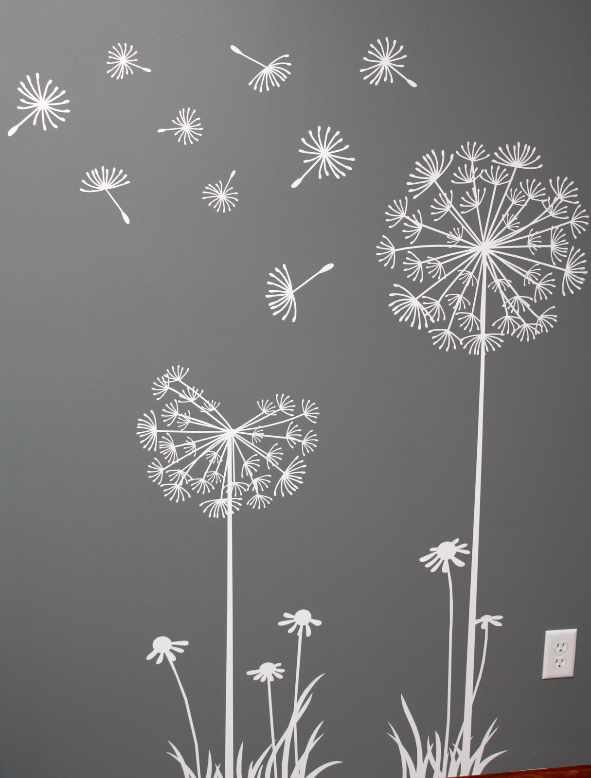 The sweetest pear sowing dandelion seeds for Stencil per pareti leroy merlin