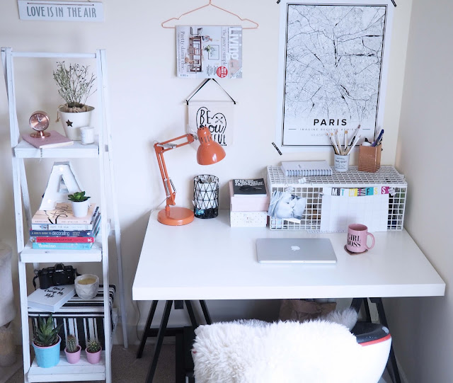 desk space and shelf ideas
