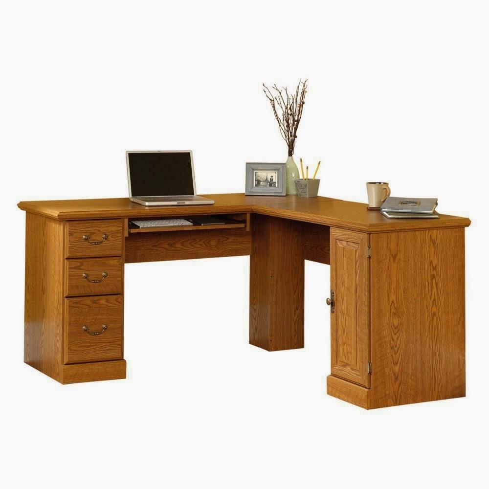 Corner Computer Desks: Oak Corner Computer Desks