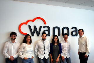 El equipo de Wanna y su CEO, Aitor Chinchetru
