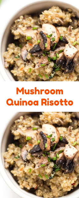 Mushroom Quinoa Risotto,quinoa dinner, quinoa recipe, quinoa risotto, vegan risotto