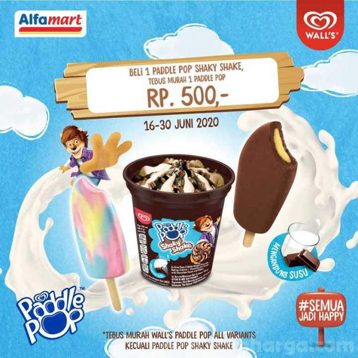 Promo Alfamart Tebus Murah 1 Wall's Paddle Pop All Varian Hanya Rp 500