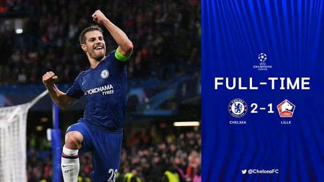 The blues progress to the next round of the Uefa Champions League after a hard fought 2-1 win against French side Lille with goals from Tammy Abraham and Cesar Azpilicueta and on the other hand key player Victor Osimhen was rested by the visitors.