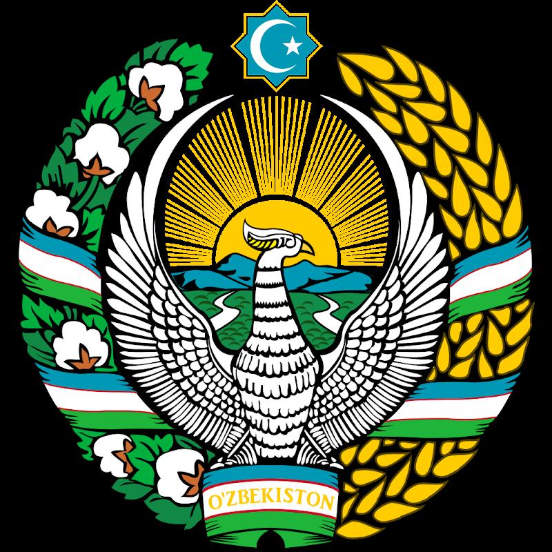 Logo Gambar Lambang Simbol Negara Uzbekistan PNG JPG ukuran 800 px