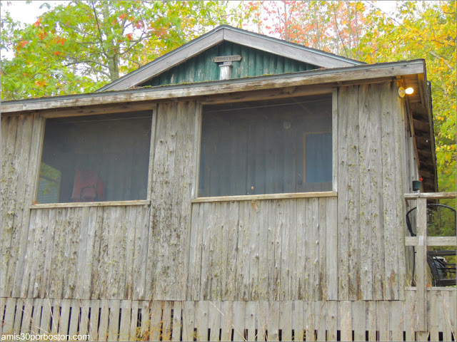 Una de las Cabañas de Lakeside Cedar Cabins en Maine